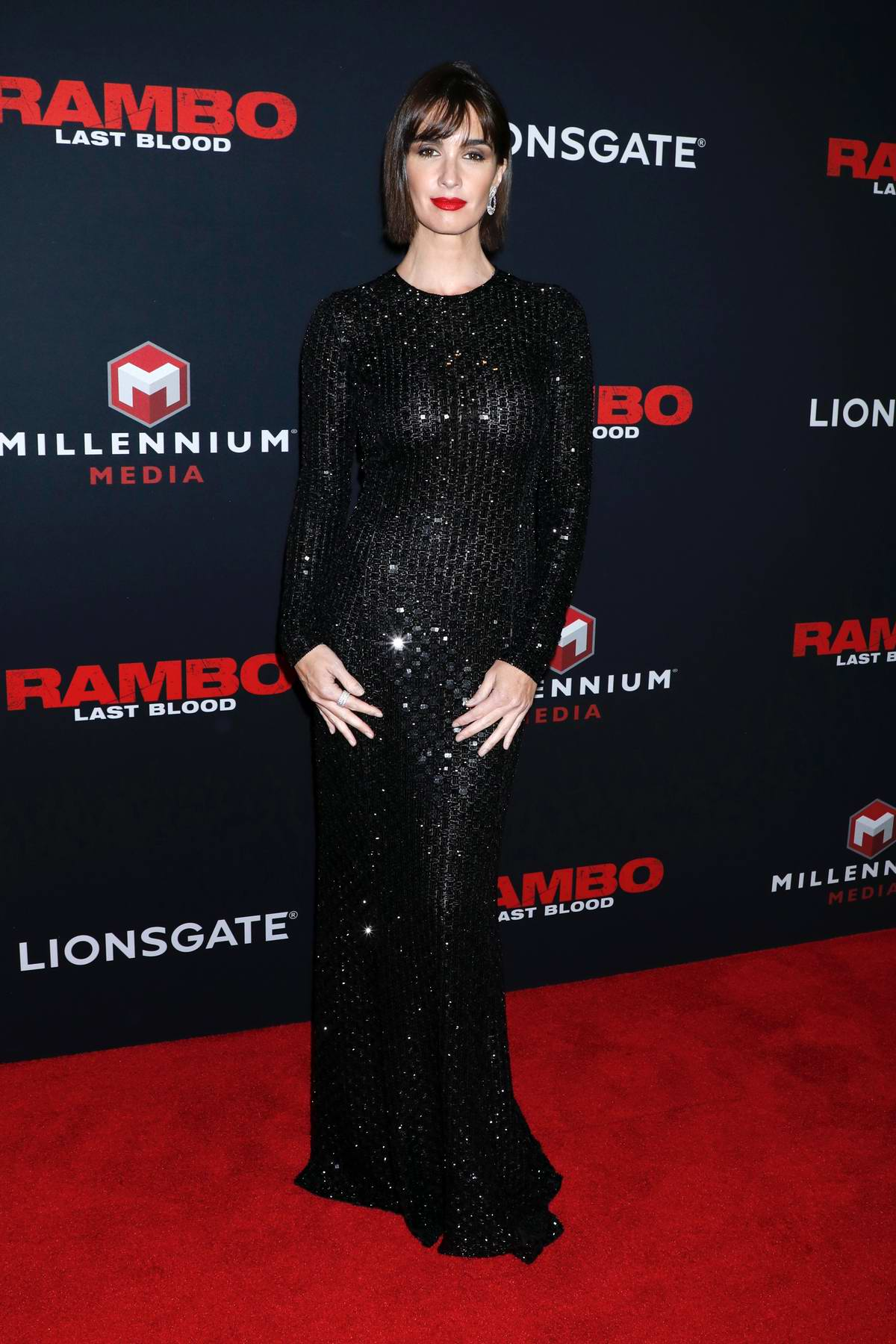 Paz Vega attends 'Rambo Last Blood' film special screening and fan event in New York City