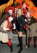Peyton Roi List visits Knott's Scary Farm in Buena Park, California
