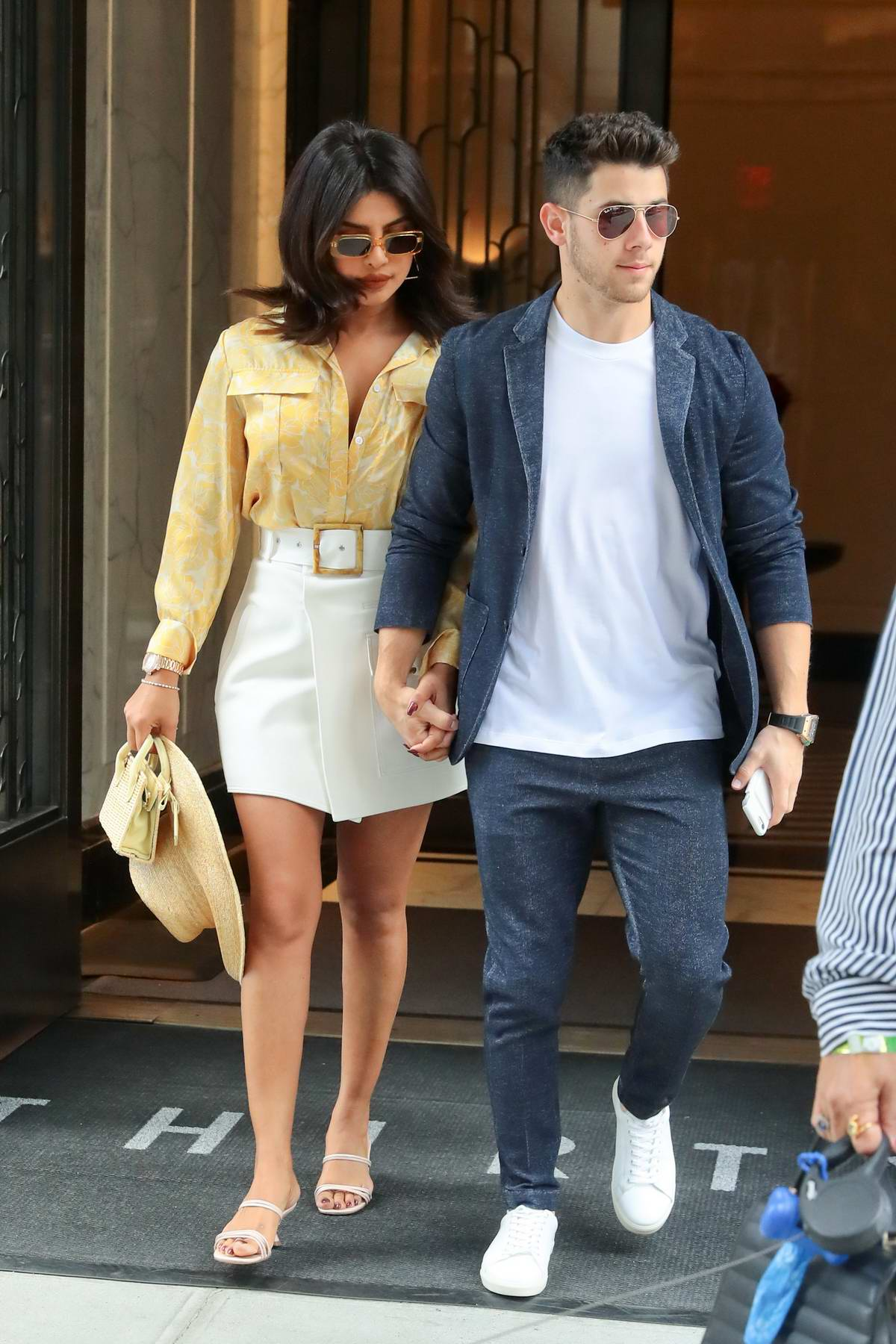 Priyanka Chopra and Nick Jonas seen leaving their apartment in New York City