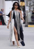 Priyanka Chopra seen wearing a monochrome fringe dress while out in New York City