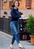 Rachel Brosnahan spotted during the rehearsals of 'Marvelous Mrs Maisiel' in New York City