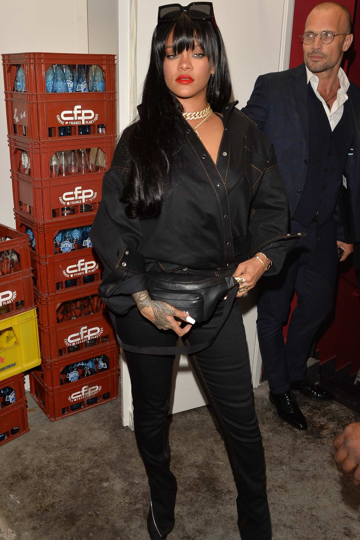 Rihanna arrives at Manko restaurant for the Fenty Launch Party in Paris, France