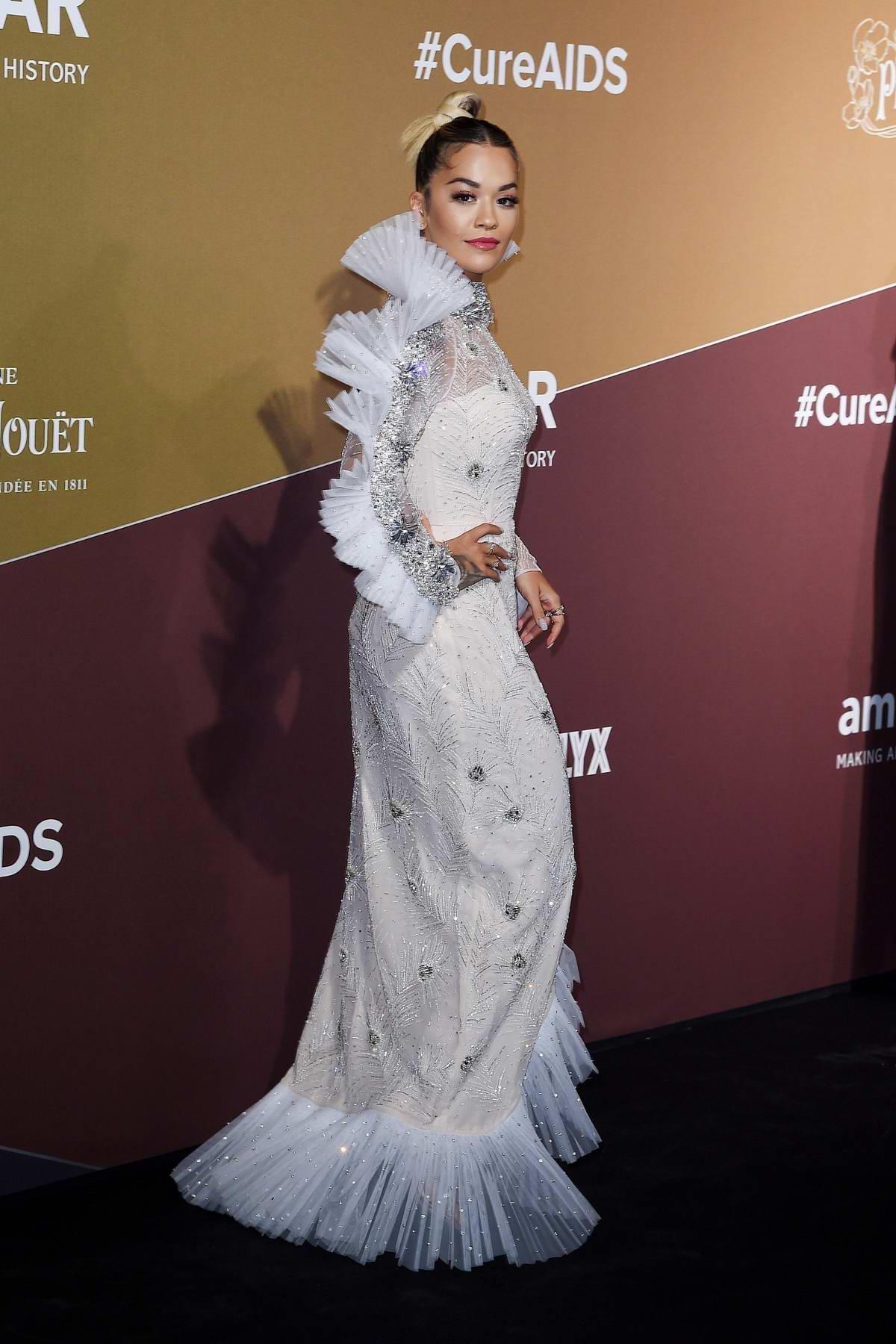 Image result for Rita Ora on the red carpet at the 2019 amfAR Gala in Milan