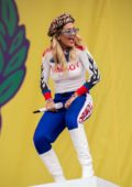 Rita Ora performs on stage at the 2019 Lollapalooza Festival in Berlin, Germany