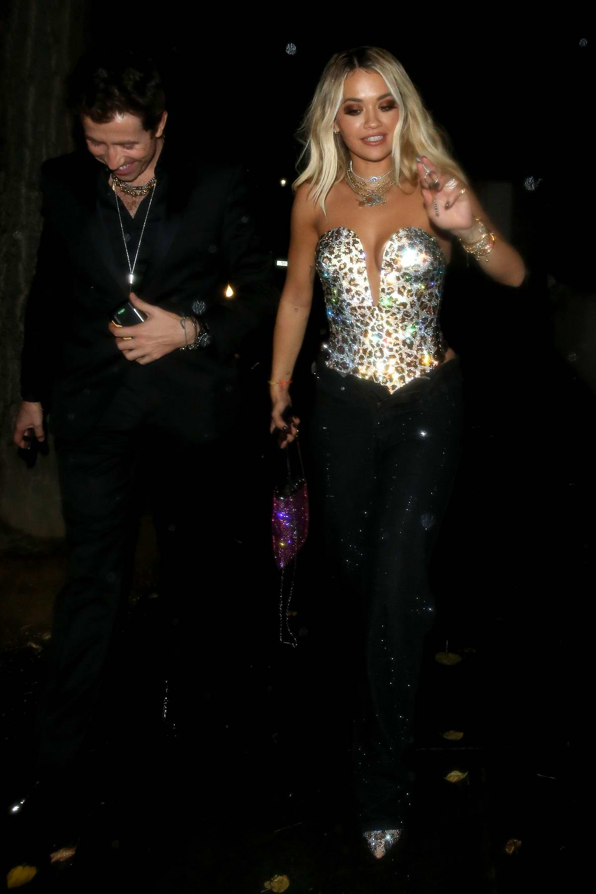 Rita Ora seen leaving the 2019 GQ Men Of The Year Awards after party at Freud's in London, UK