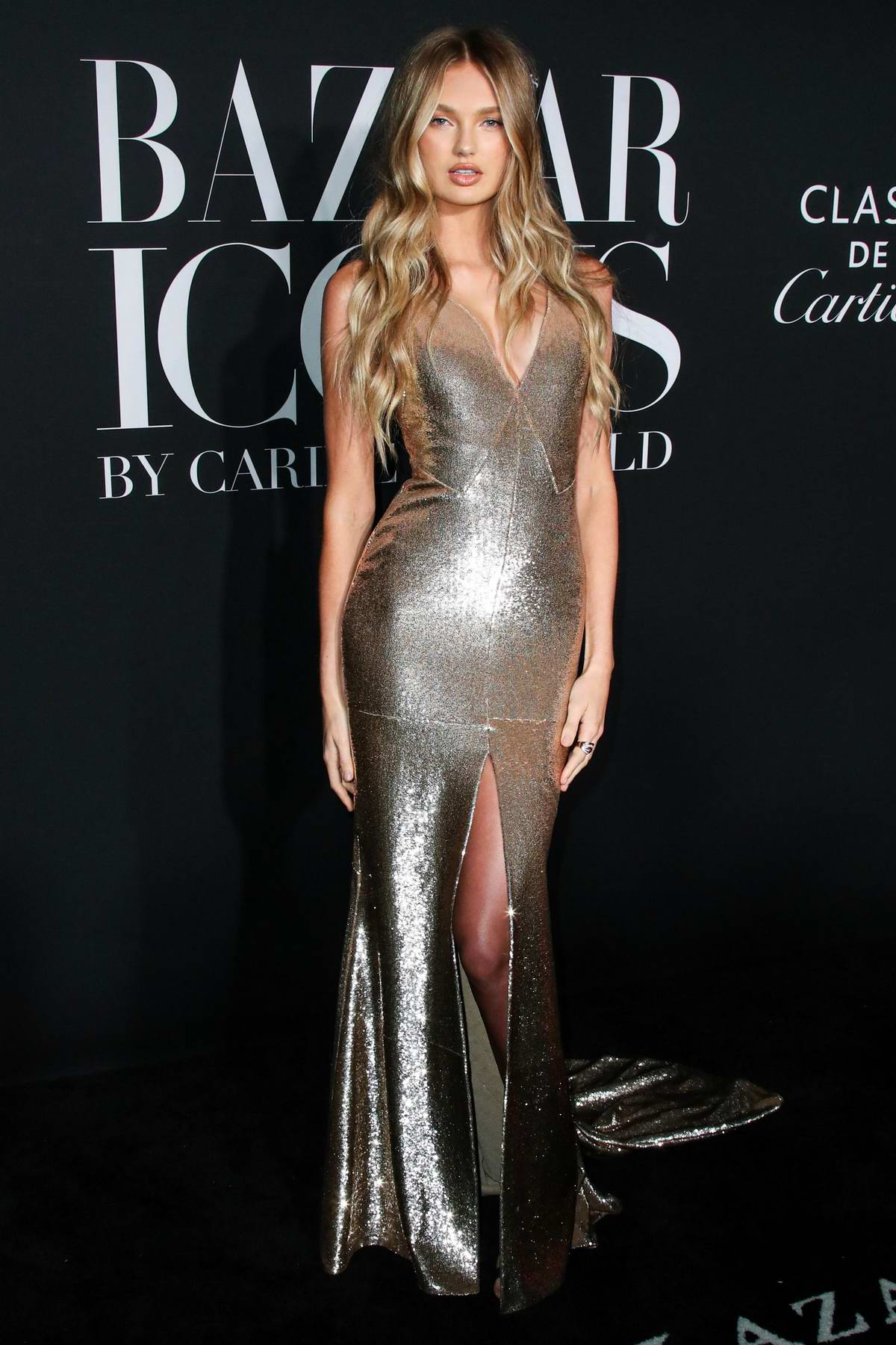 Romee Strijd attends the 2019 Harper's Bazaar ICONS Party at The Plaza Hotel in New York City