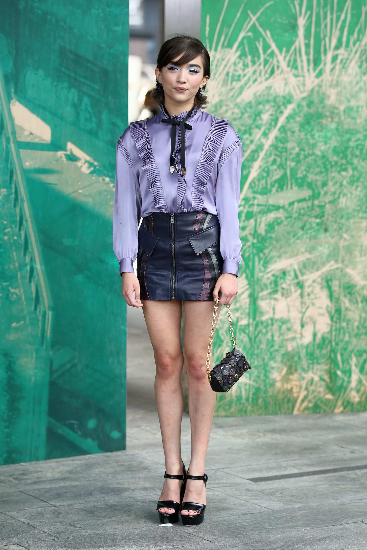 Rowan Blanchard attends the Coach 1941 show during New York Fashion Week in New York City