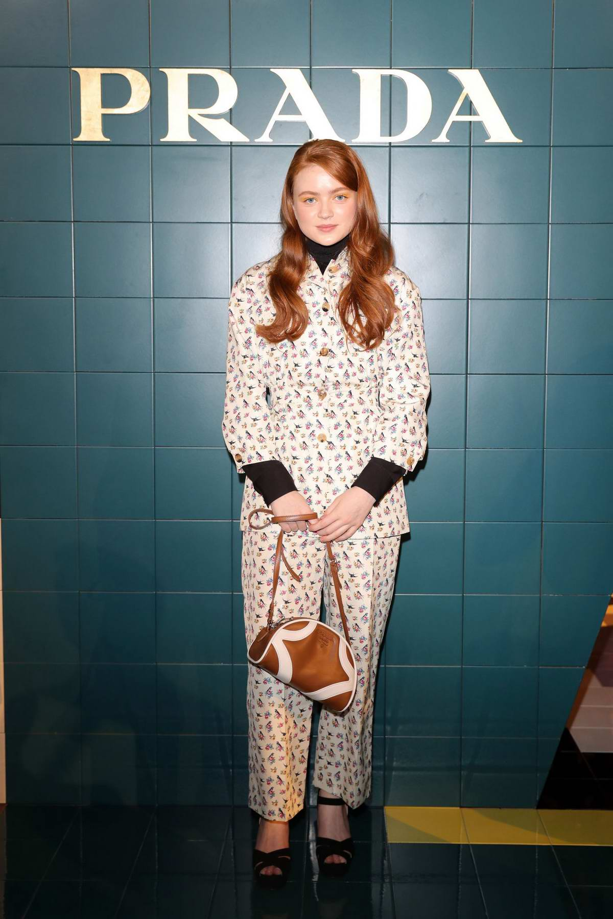 Sadie Sink attends the Prada show during the Milan Fashion Week Spring/Summer 2020 in Milan, Italy
