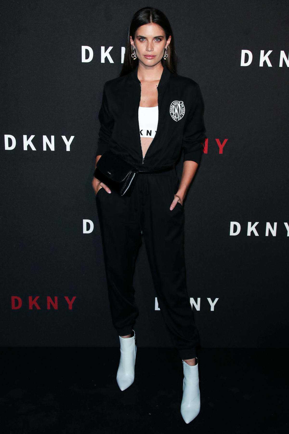 Sara Sampaio attends DKNY 30th birthday party during New York Fashion Week in New York City