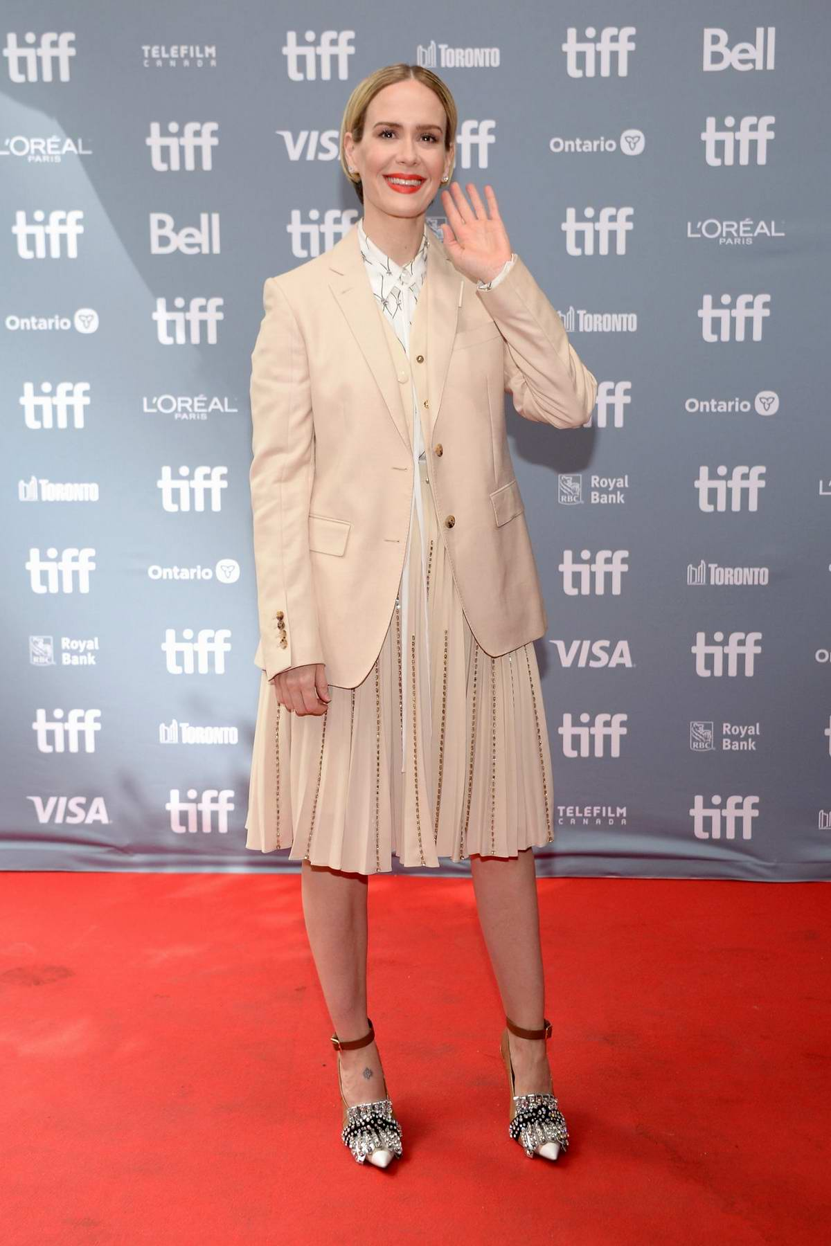 Sarah Paulson attends 'The Goldfinch' press conference during the 2019 Toronto International Film Festival in Toronto, Canada
