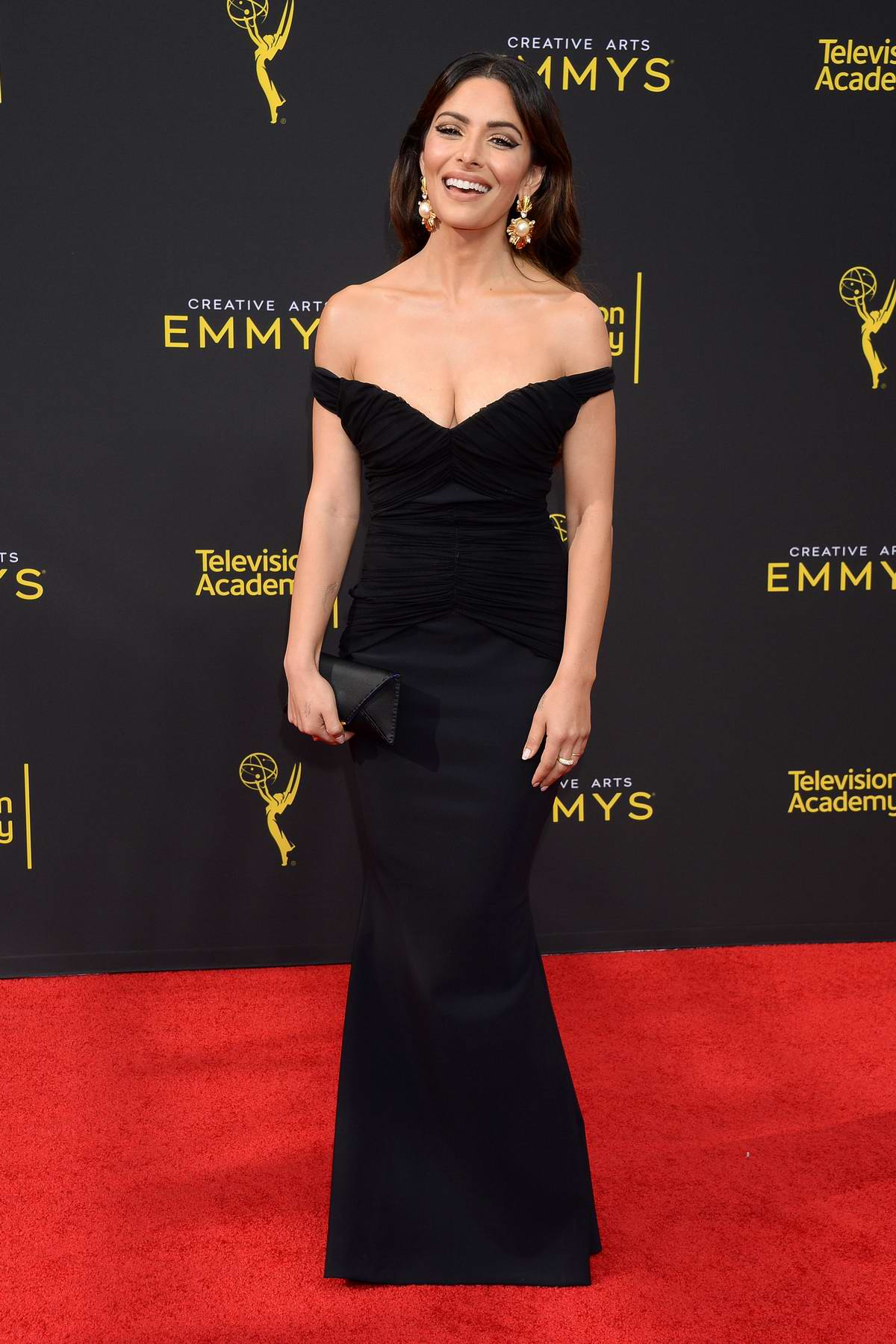 Sarah Shahi attends the 71st Annual Primetime Creative Arts Emmy Awards, Day 2 at Microsoft Theater in Los Angeles
