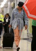 Scarlett Johansson makes a low-key arrival at JFK airport in New York City