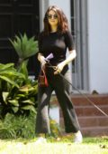 Selena Gomez seen leaving a friends house with her new pooch in Los Angeles