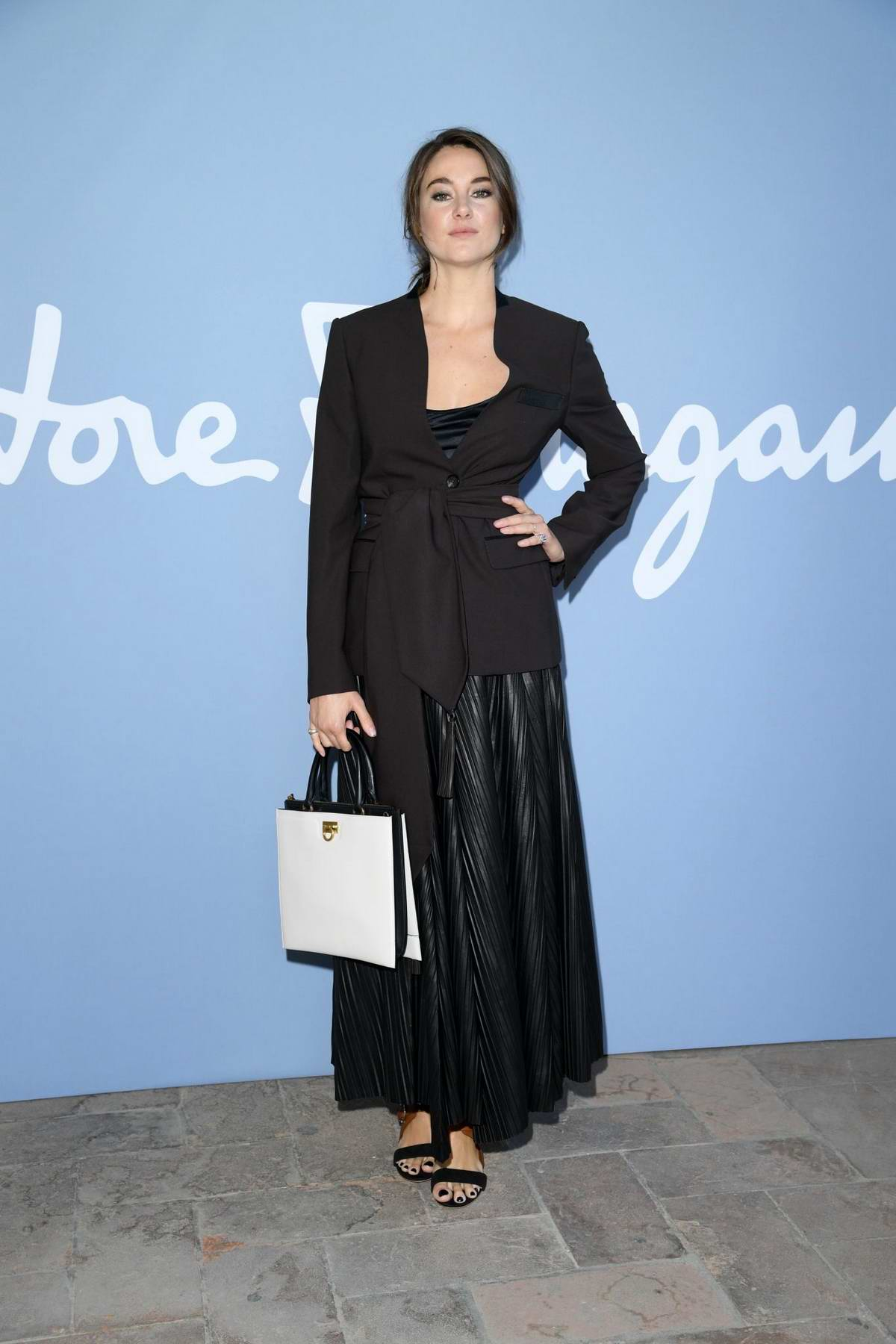 Shailene Woodley attends Salvatore Ferragamo show during Milan Fashion Week, Spring/Summer 2020 in Milan, Italy