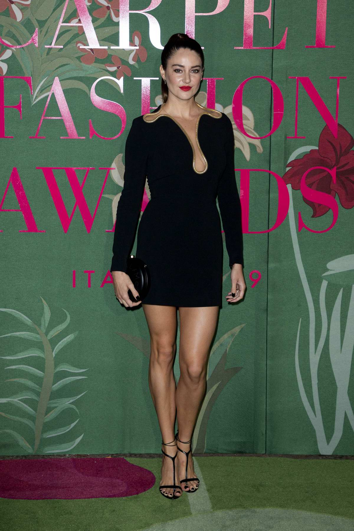 Shailene Woodley attends The Green Carpet Fashion Awards 2019 in Milan, Italy