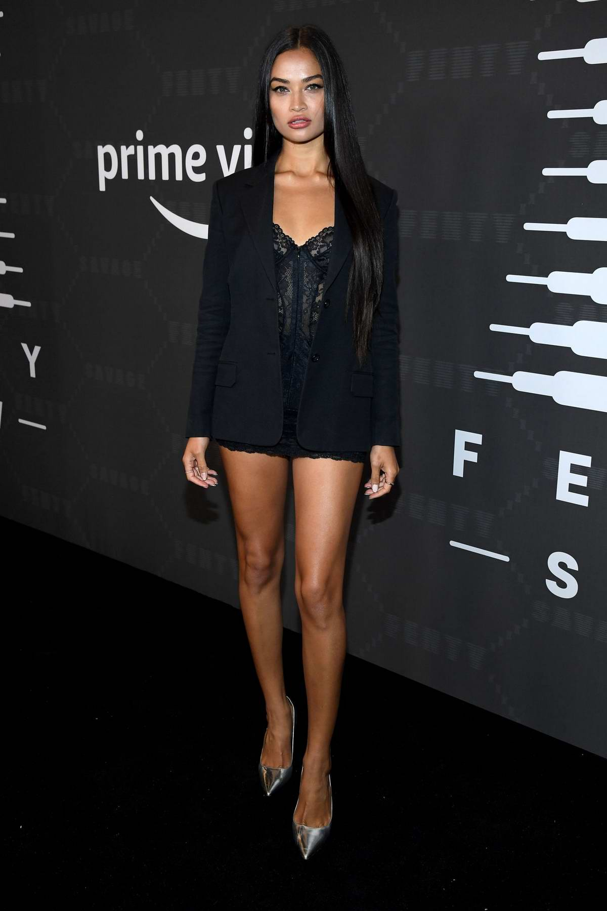 Shanina Shaik attends Savage X Fenty Show during New York Fashion Week at Barclays Center in Brooklyn, New York City