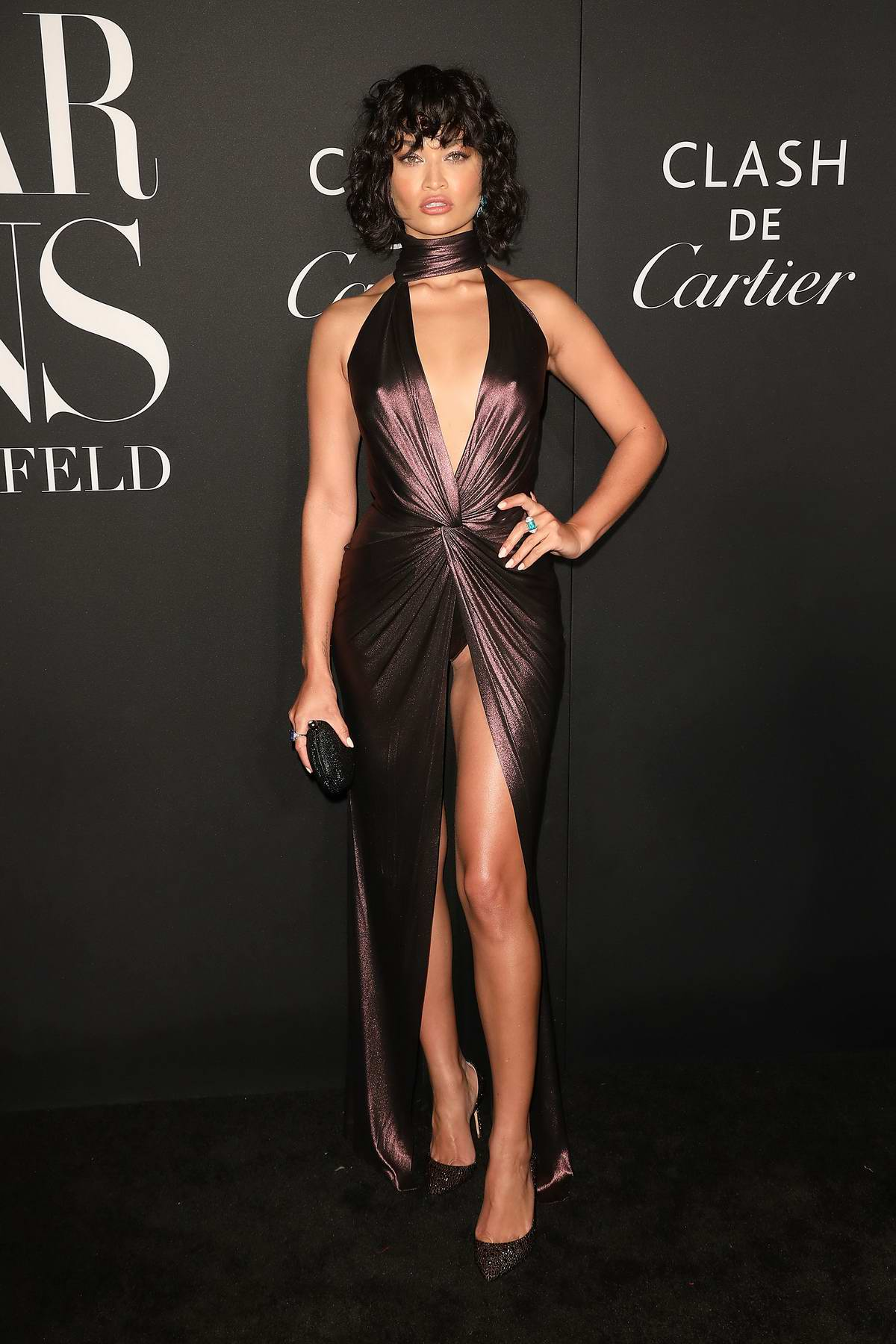Shanina Shaik attends the 2019 Harper's Bazaar ICONS Party at The Plaza Hotel in New York City