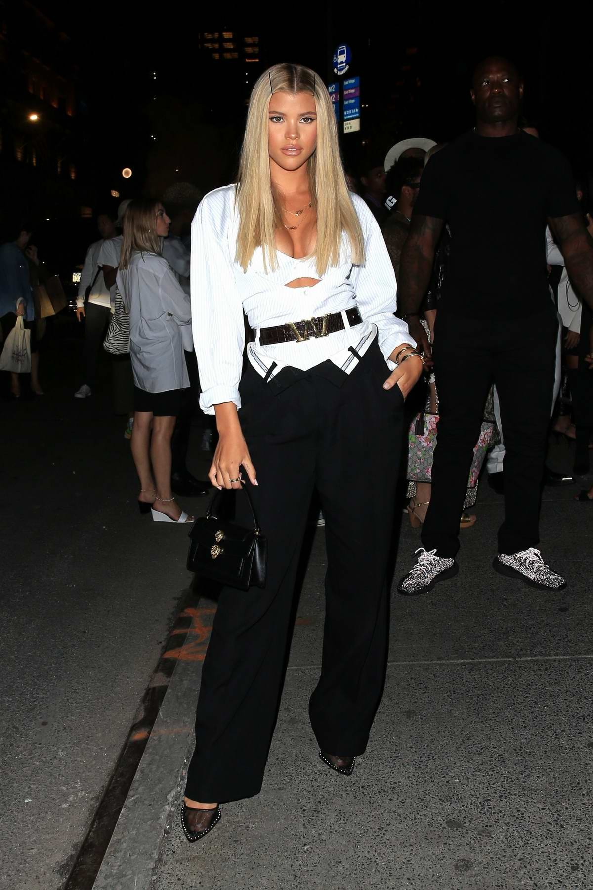 Sofia Richie looks amazing as she arrives at Alexander Wang's party during New York Fashion Week in New York City