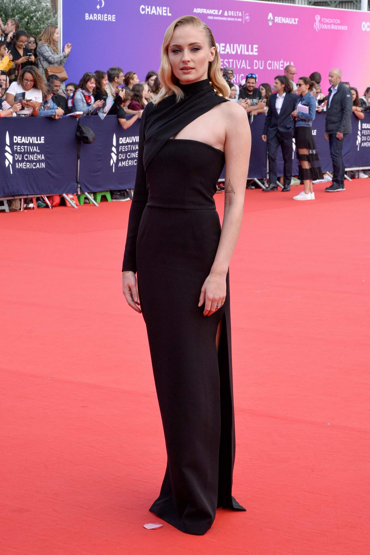 Sophie Turner attends 'Heavy' premiere during the 45th Deauville American Film Festival in Deauville, France