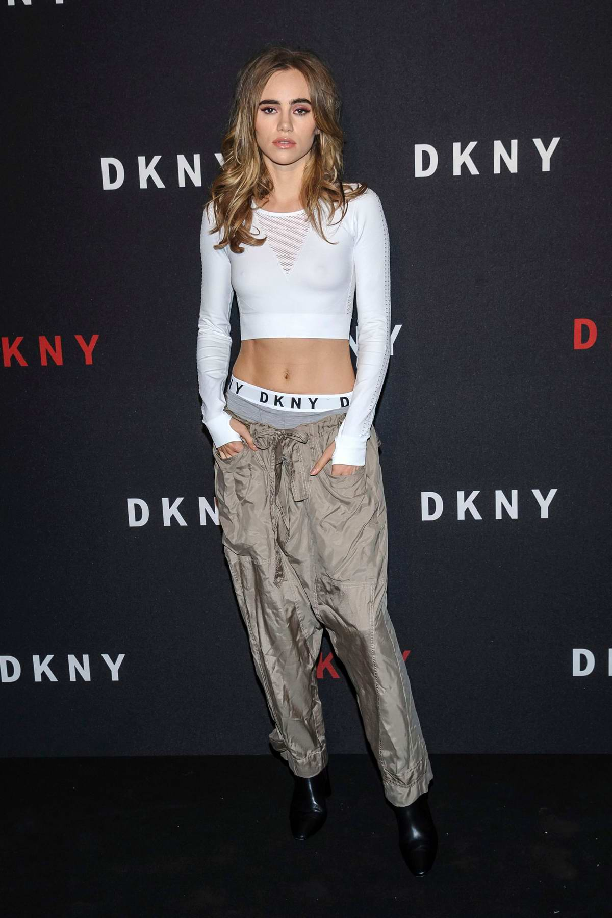 Suki Waterhouse attends DKNY 30th birthday party during New York Fashion Week in New York City