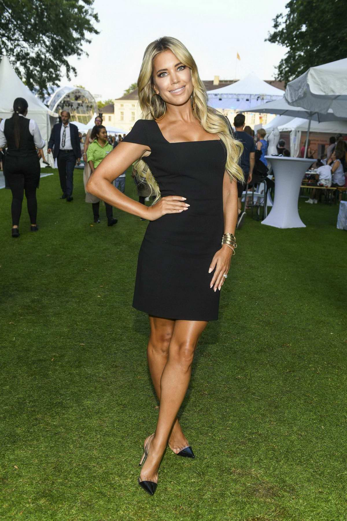Sylvie Meis attends the Citizens' Party of the Federal President at Schloss Bellevue in Berlin, Germany