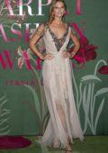 Toni Garrn attends The Green Carpet Fashion Awards 2019 in Milan, Italy
