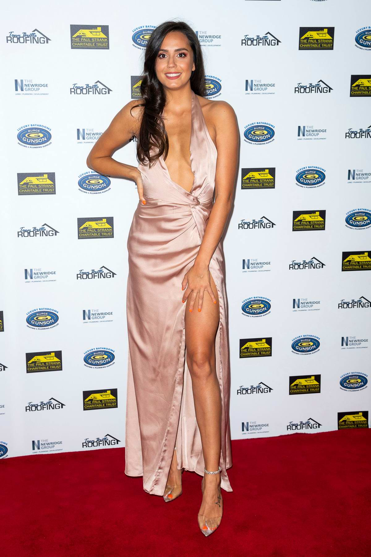 Tyla Carr attends The Paul Strank Charity Gala at Bank of England Sports Centre in London, UK