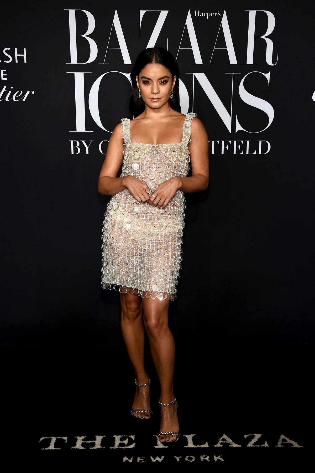 Vanessa Hudgens attends the 2019 Harper's Bazaar ICONS Party at The Plaza Hotel in New York City