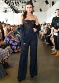 Victoria Justice attends Pamella Rowland show during New York Fashion Week in New York City