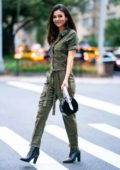 Victoria Justice looks stylish in army green jumpsuit as she steps out in Manhattan, New York City