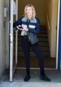 Witney Carson waits for her ride outside the 'Dancing With The Stars' rehearsal studio in Los Angeles