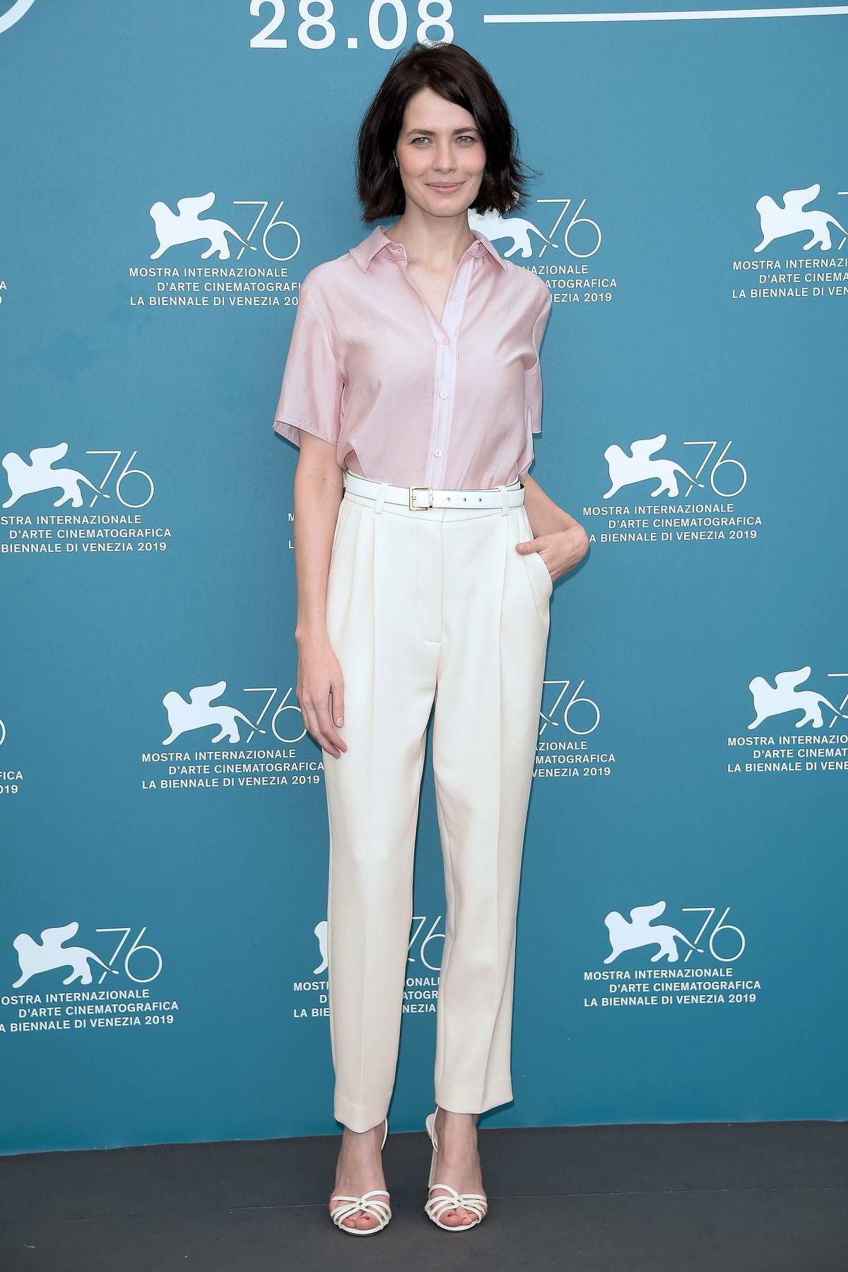 Yuliya Snigir attends 'The New Pope' Photocall during 76th Venice Film Festival in Venice, Italy