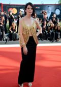 Yuliya Snigir attends 'The New Pope' Premiere during 76th Venice Film Festival in Venice, Italy