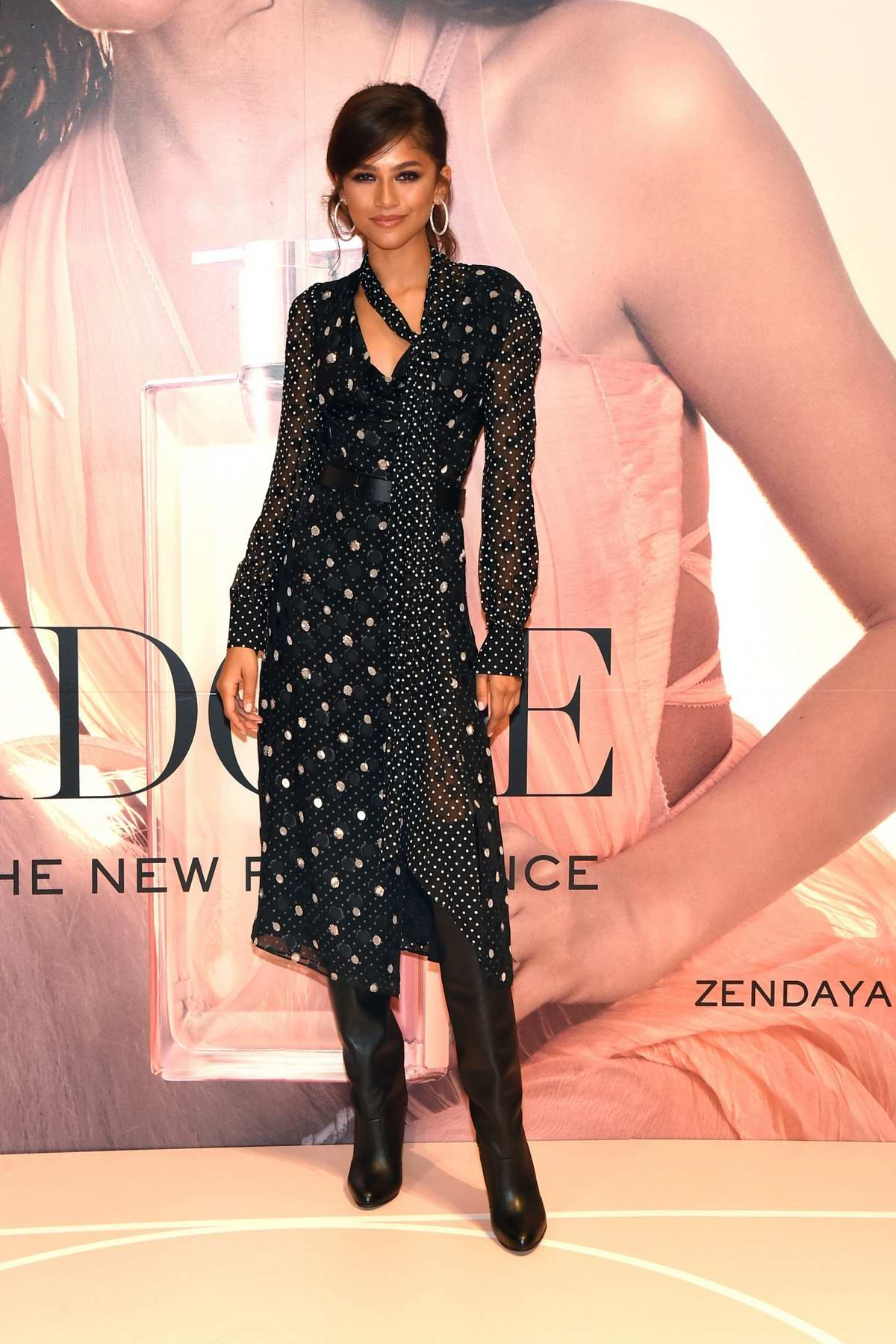 Zendaya attends Lancome Beauty event at Macy's at Herald Square in New York City