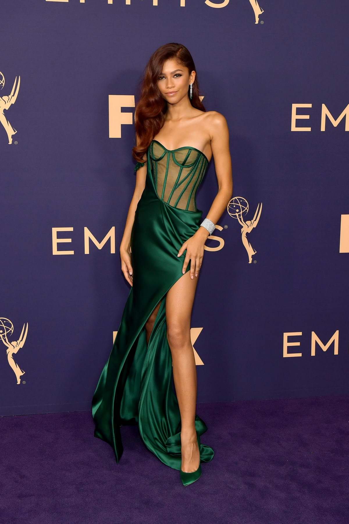 Zendaya attends the 71st Primetime Emmy Awards at Microsoft Theater in Los Angeles