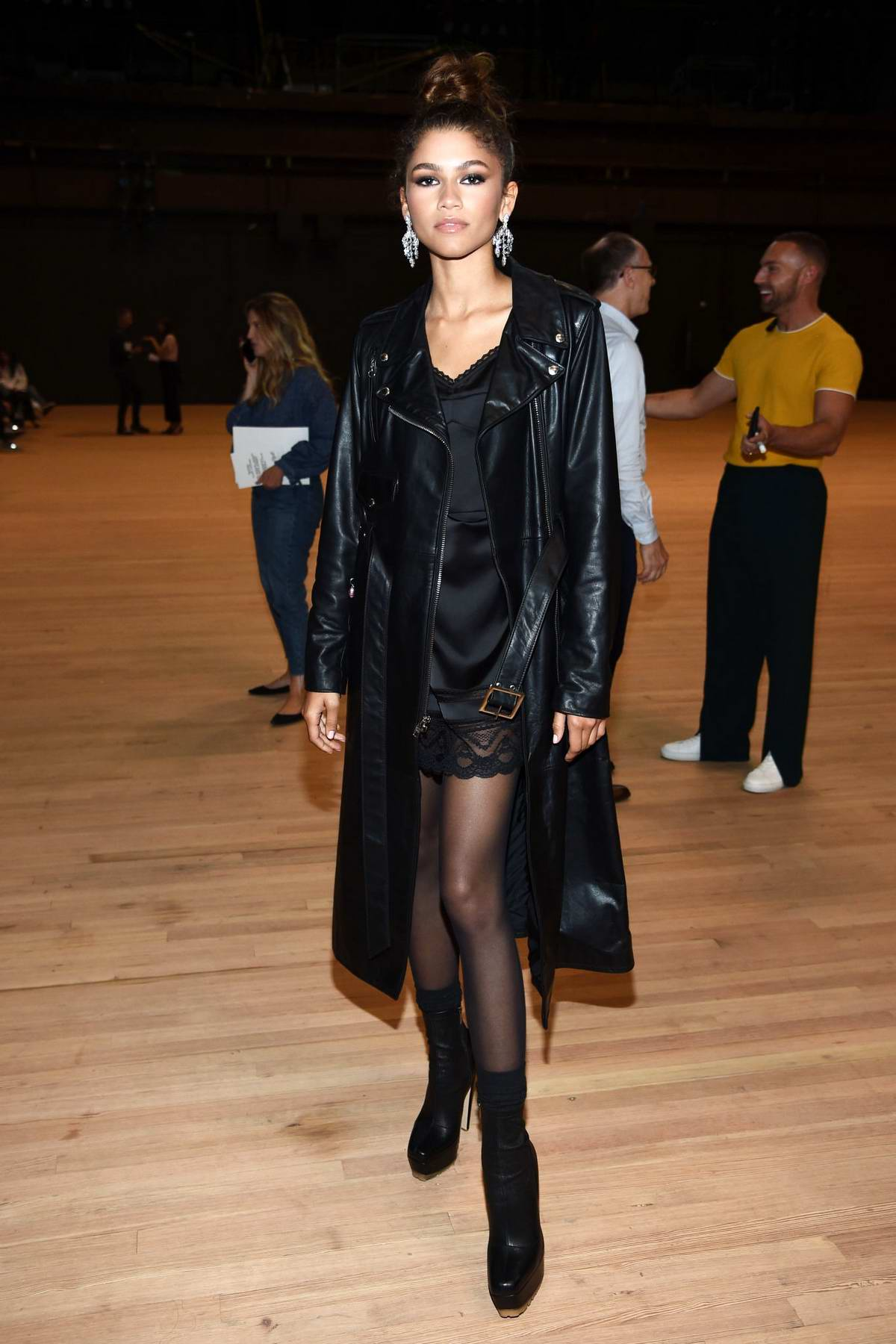 Zendaya attends the Marc Jacobs Spring 2020 Show during New York Fashion Week at Park Avenue Armory in New York City
