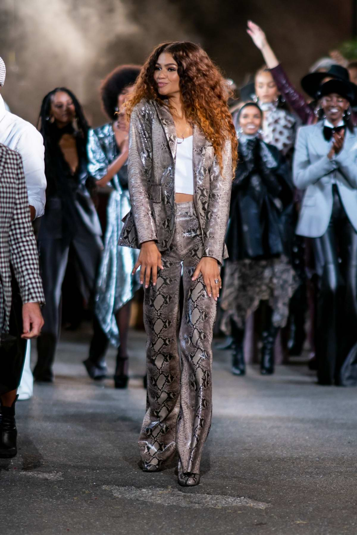 Zendaya attends the Tommy x Zendaya Show during NYFW at The Apollo Theater in New York City