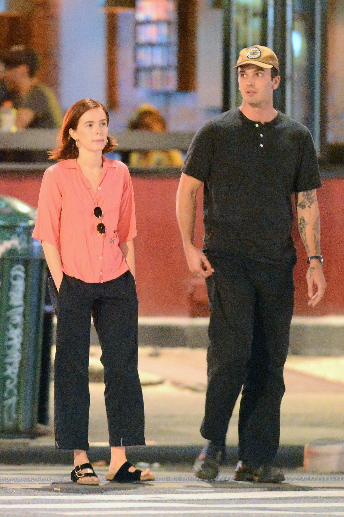 Zoey Deutch and Dylan Hayes are spotted heading to dinner in SoHo, New York City