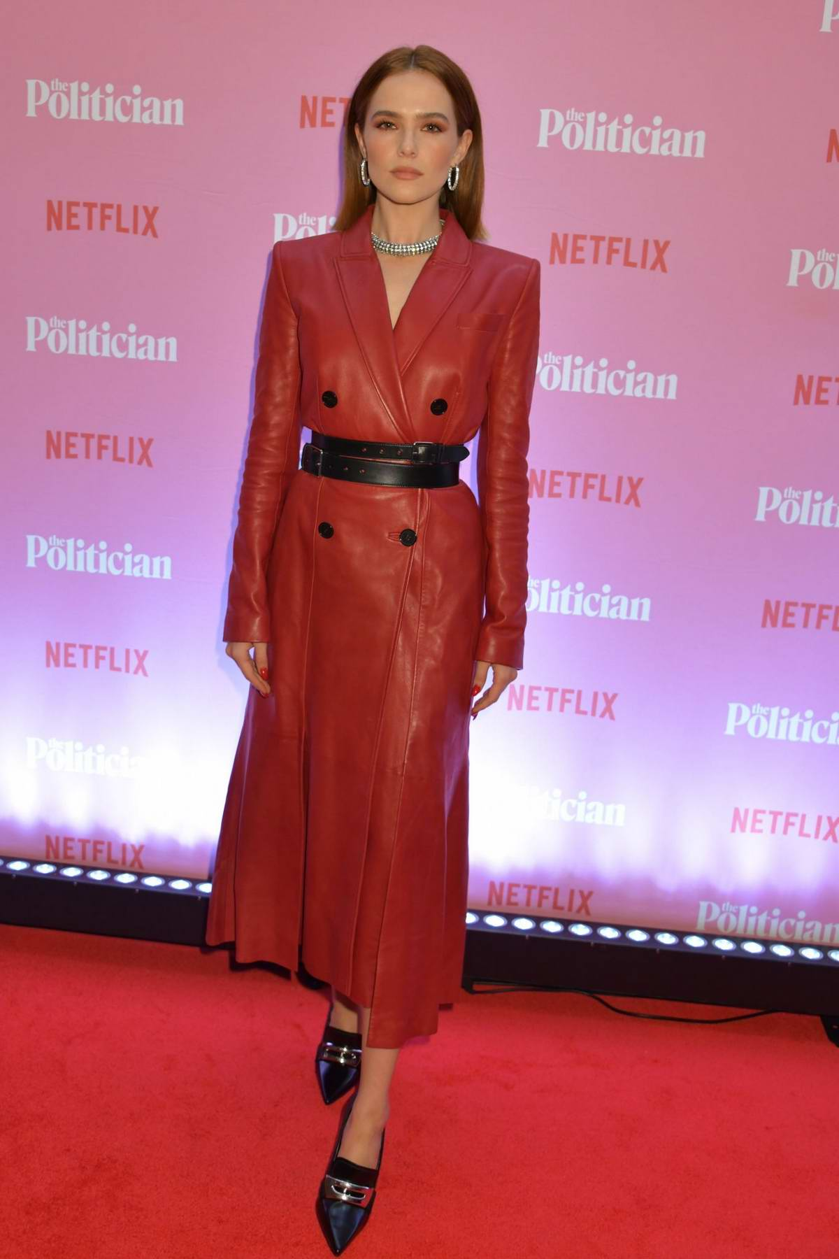 Zoey Deutch attends a special screening of Netflix's 'The Politician' at The Ham Yard Hotel in London, UK