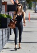 Alessandra Ambrosio dons form-fitting black jumpsuit as she heads for a pilates class in Los Angeles