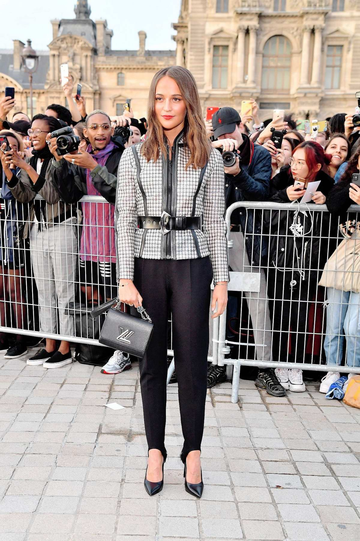 Alicia Vikander attends the Louis Vuitton Womenswear SS 2020 show during Paris Fashion Week in Paris, France