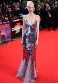 Andrea Riseborough attends the Premier of 'The Irishman' during the 63rd BFI London Film Festival in London, UK