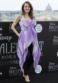 Angelina Jolie attends a photocall for 'Maleficent: Mistress Of Evil' at Hotel De La Ville in Rome, Italy