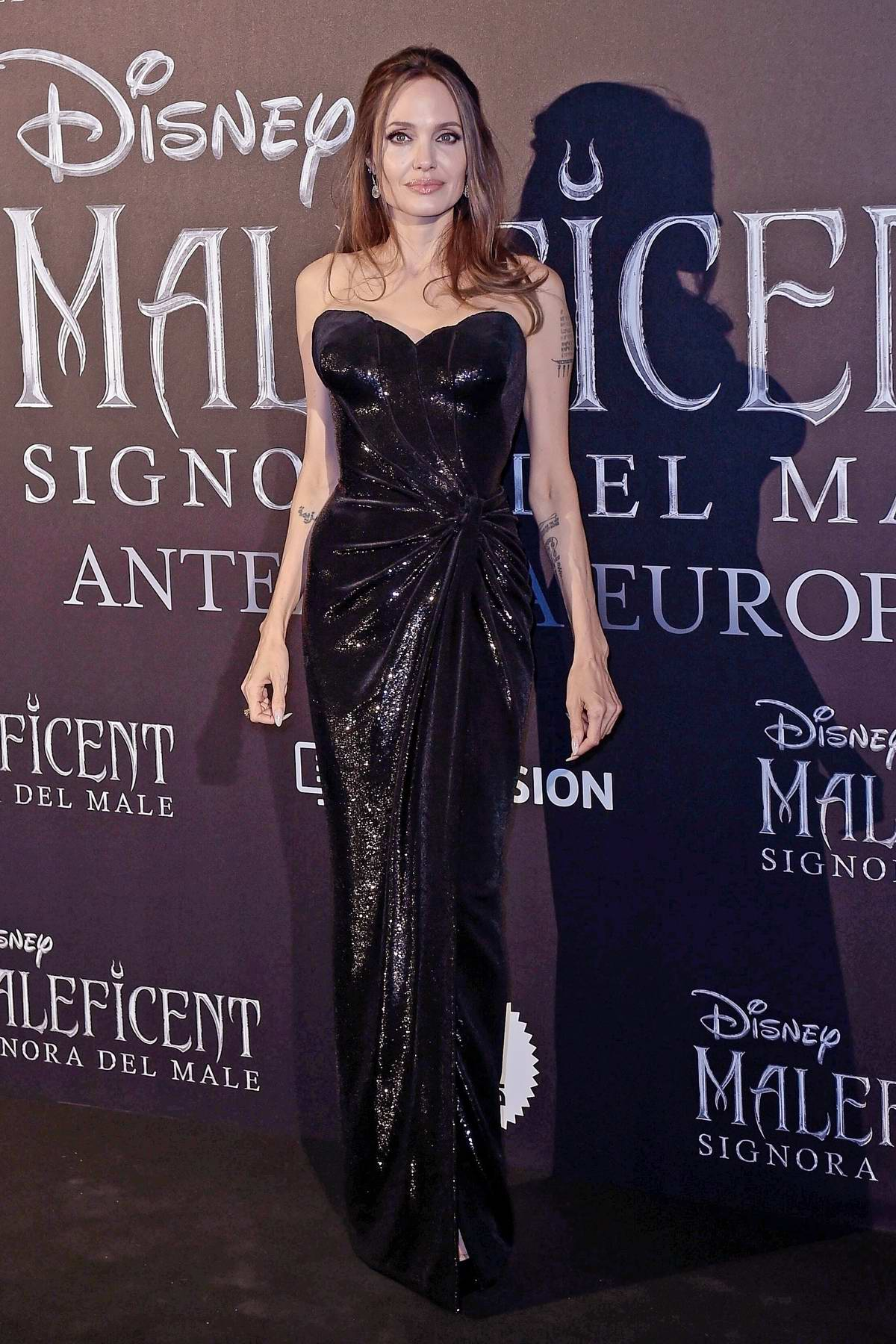 Angelina Jolie and Michelle Pfeiffer attend the European Premiere of 'Maleficent: Mistress of Evil' in Rome, Italy