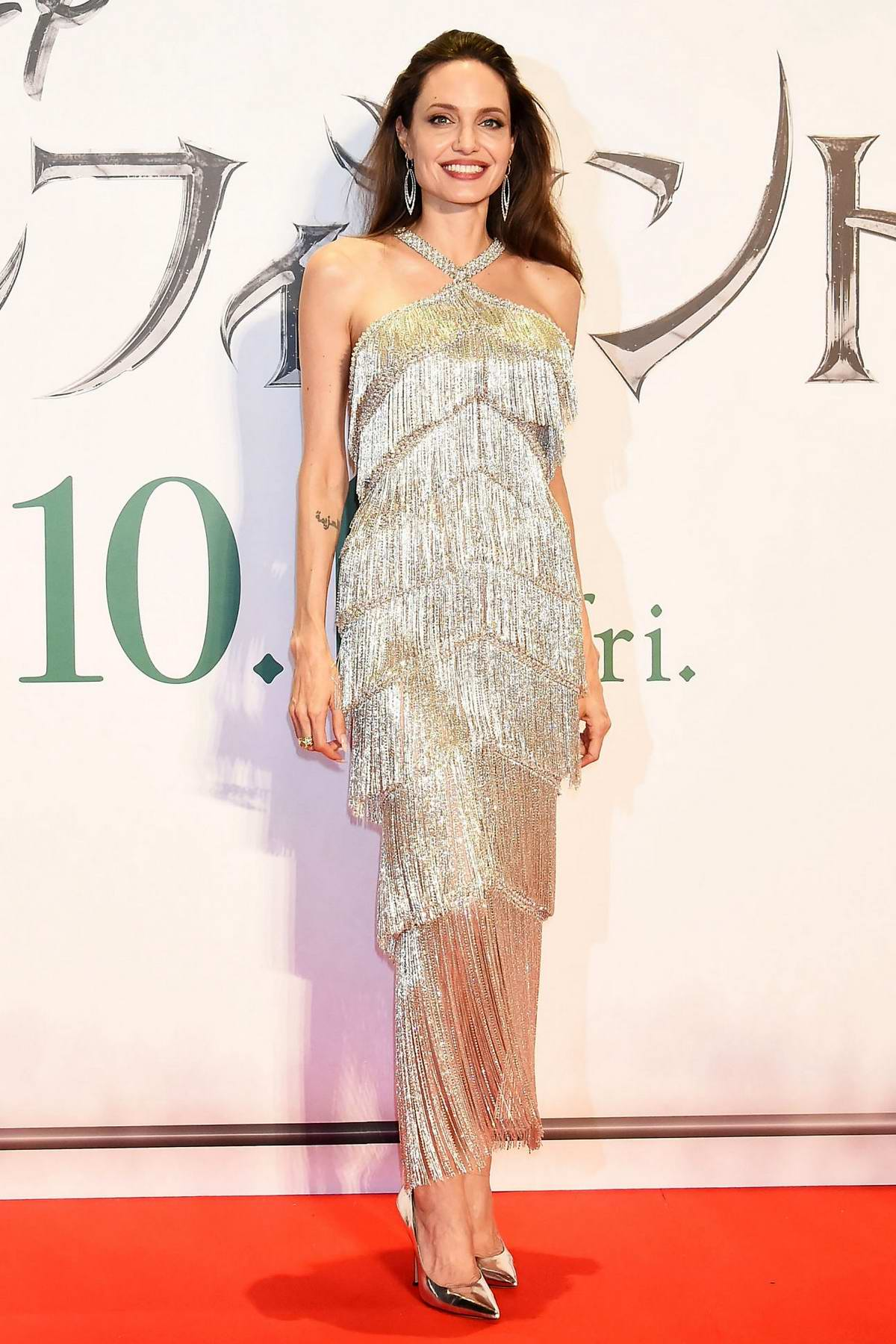 Angelina Jolie attends the Japan premiere of 'Maleficent: Mistress of Evil' at Roppongi Hills arena in Tokyo, Japan