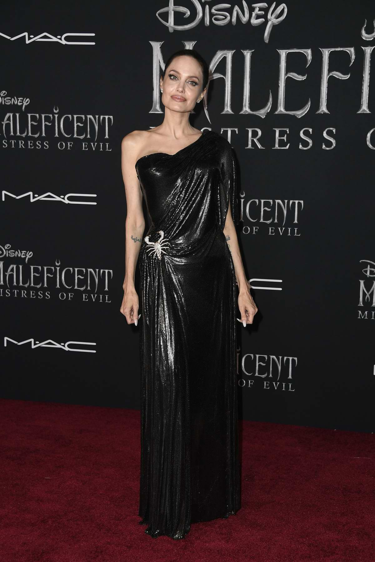 Angelina Jolie attends the World Premiere of Disney's 'Maleficent: Mistress of Evil' at El Capitan Theatre in Los Angeles