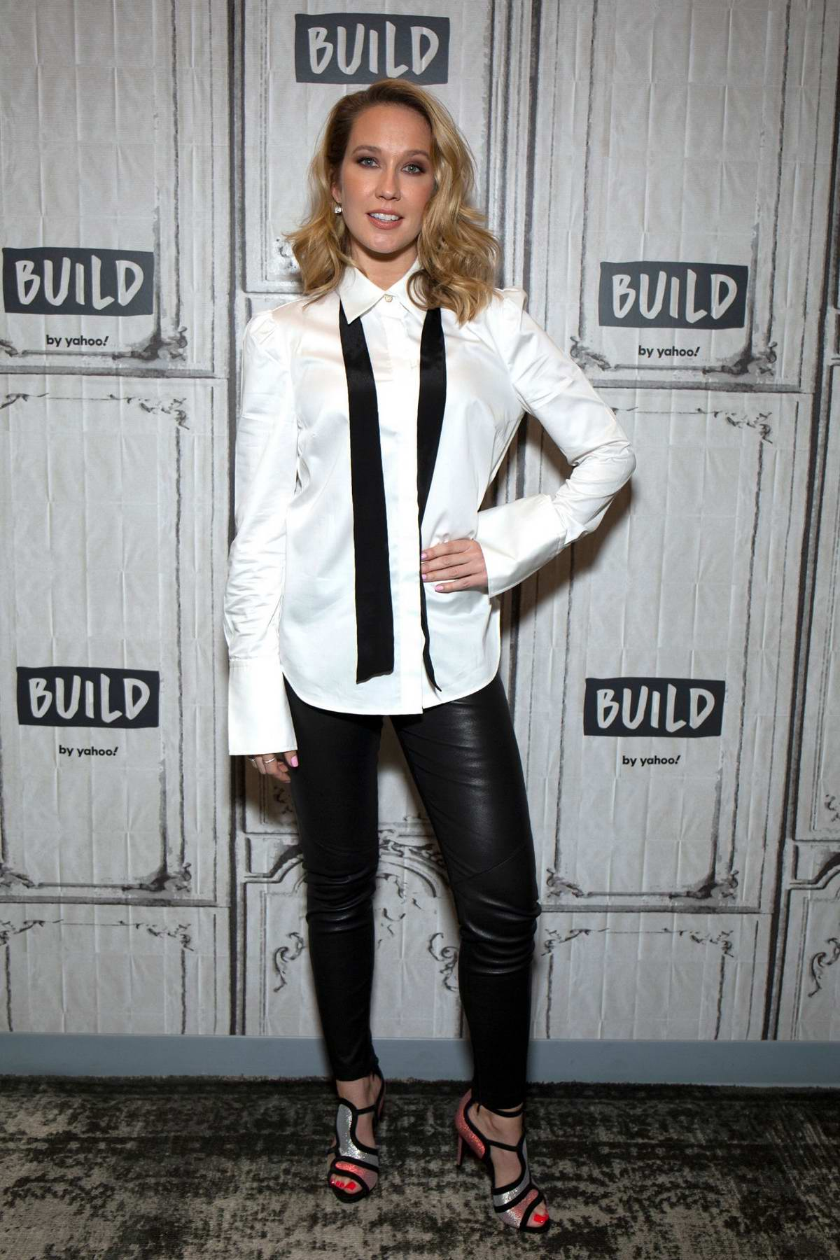 Anna Camp visits Build Studio to promote her new show 'Perfect Harmony' in New York City