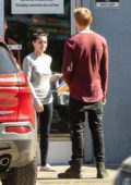 Ariel Winter meets up with Levi Meaden at a studio in North Hollywood, California