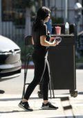 Ariel Winter rocks Budweiser t-shirt and leggings arriving at a hair salon in West Hollywood, Los Angeles