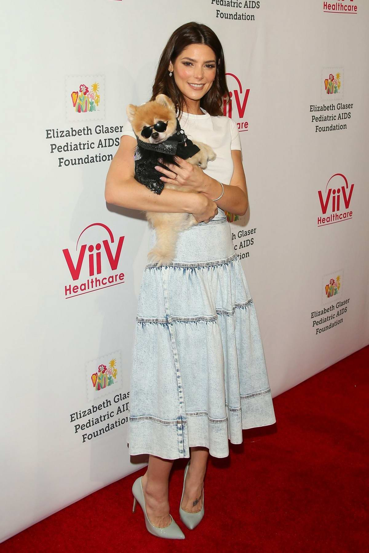 Ashley Greene attends the 30th Annual A Time For Heroes Family Festival at Smashbox Studios in Culver City, California